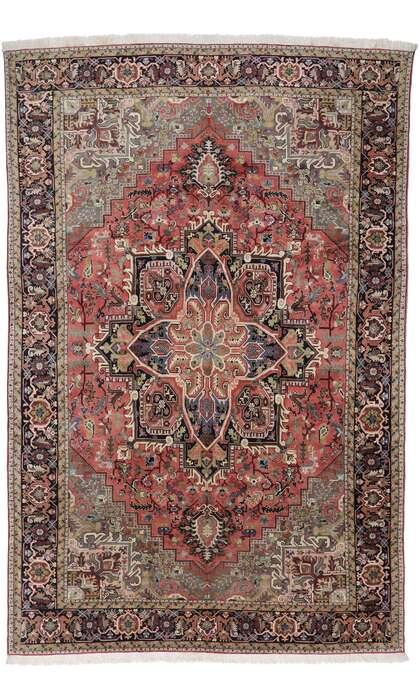 13 x 20 Vintage Persian Heriz Rug 78065