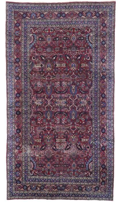 11 x 19 Antique Persian Mashhad Rug 78067