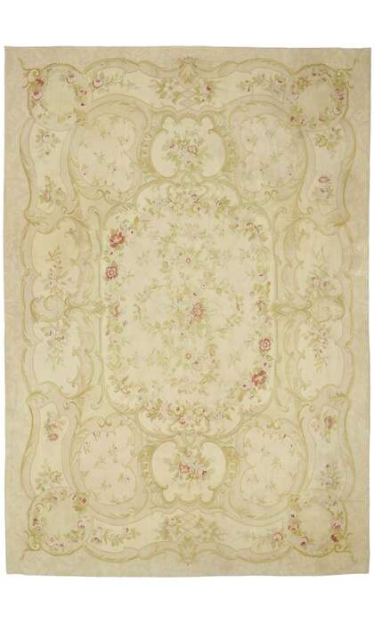 10 x 14 Vintage French Aubusson Rug 78082
