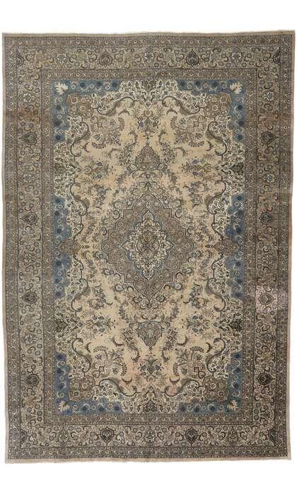 12 x 19 Antique Persian Tabriz Rug 78090