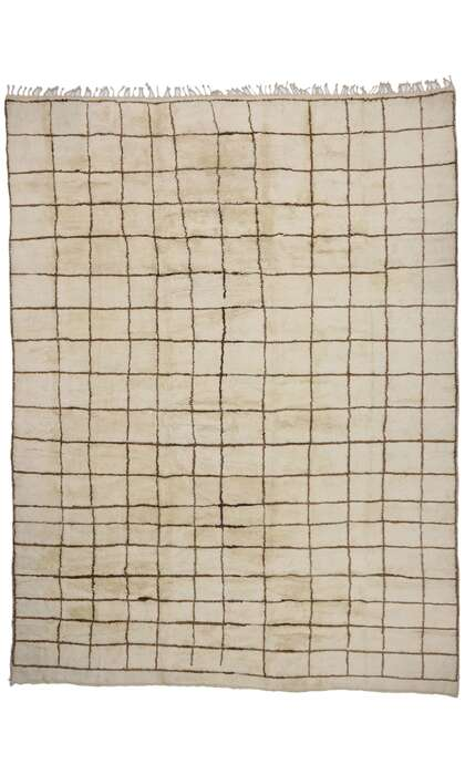 14 x 18 New Contemporary Berber Moroccan Rug with Modern Bauhaus Style 21143