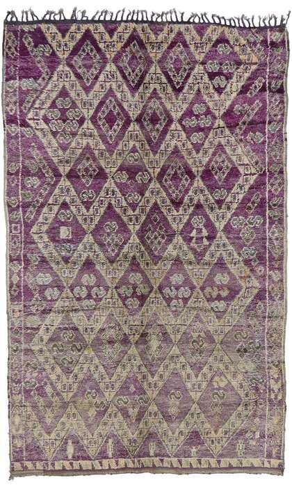 7 x 11 Vintage Moroccan Rug 21203