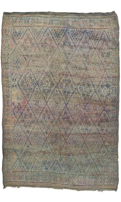 7 x 11 Vintage Moroccan Rug 21248