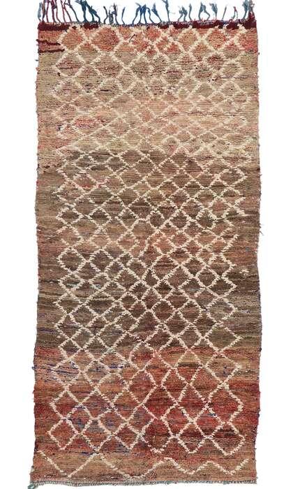 6 x 11 Vintage Berber Boucherouite Moroccan Rug 21293