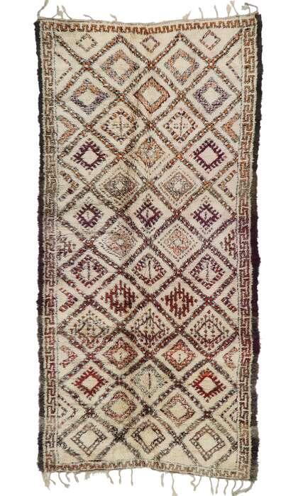 6 x 13 Vintage Beni Ourain Moroccan Rug 21355