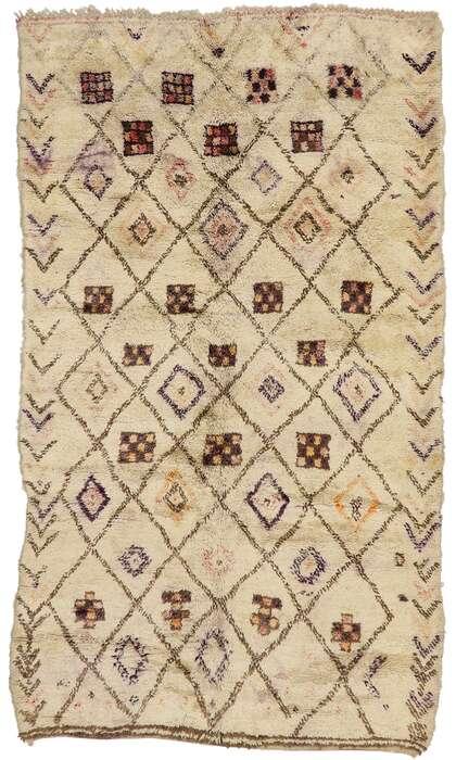 7 x 12 Vintage Beni Ourain Moroccan Rug 21361