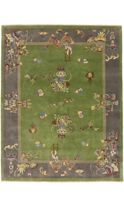 8 x 11 Contemporary Chinese Art Deco Rug 30670