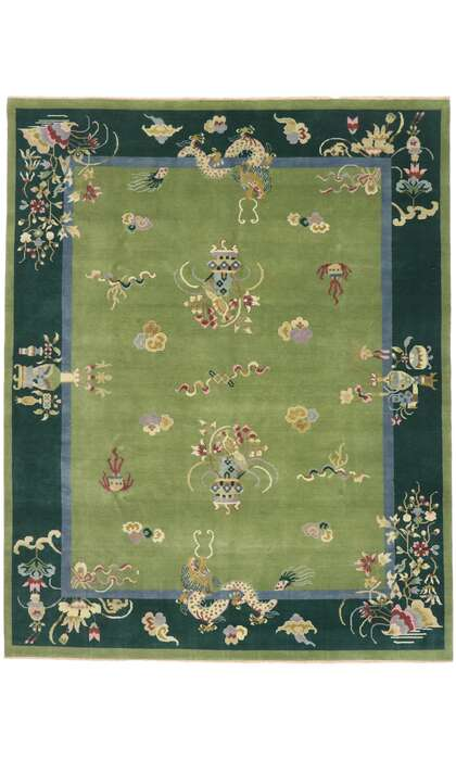 8 x 10 Contemporary Chinese Art Deco Rug 30671