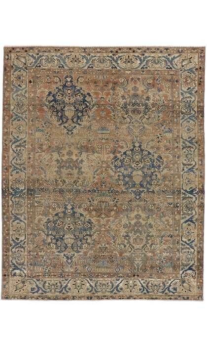 9 x 11 Antique Persian Bakhtiari Rug 60931