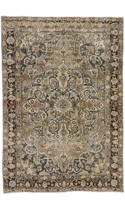 8 x 12 Antique Persian Heriz Rug 60935