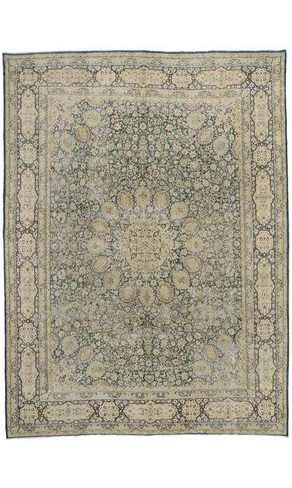 10 x 13 Antique Persian Kerman Rug 60936