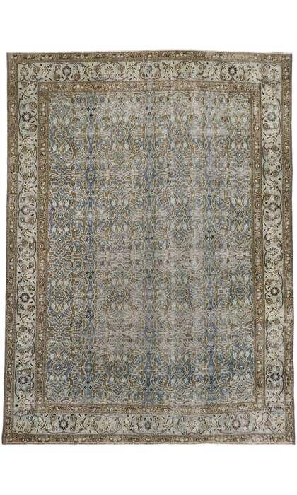 9 x 12 Antique Persian Mashhad Rug 60940