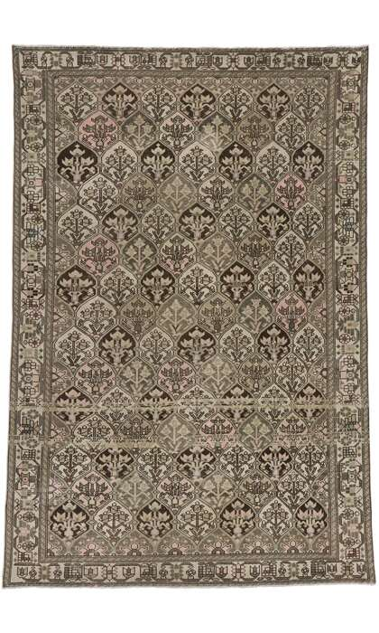 7 x 10 Antique Persian Bakhtiari Rug 60942
