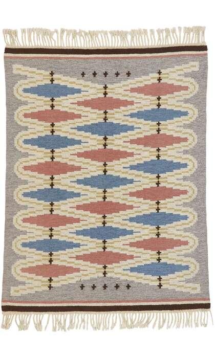 5 x 6 Vintage Swedish Kilim Rug 78108