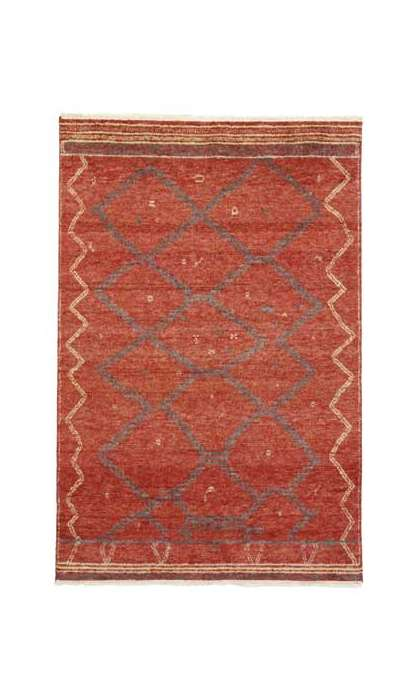 6 x 9 New Moroccan Rug 30309