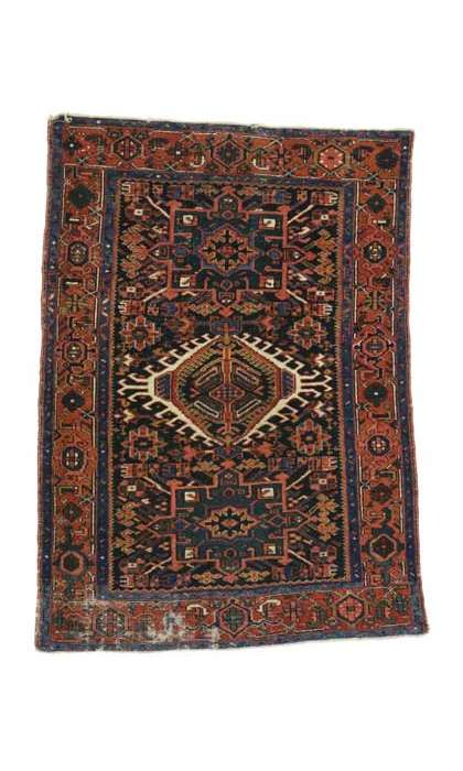 4 x 6 Antique Heriz Rug 76759