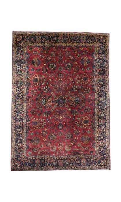 11 x 15 Antique Yazd Rug 76761