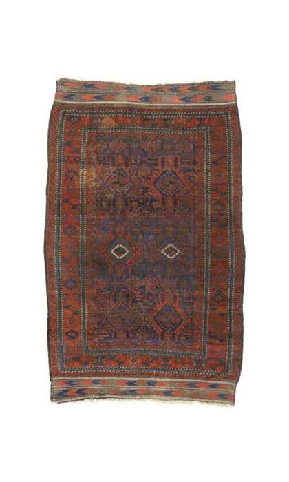 7 x 10 Antique Afghan Rug 76623