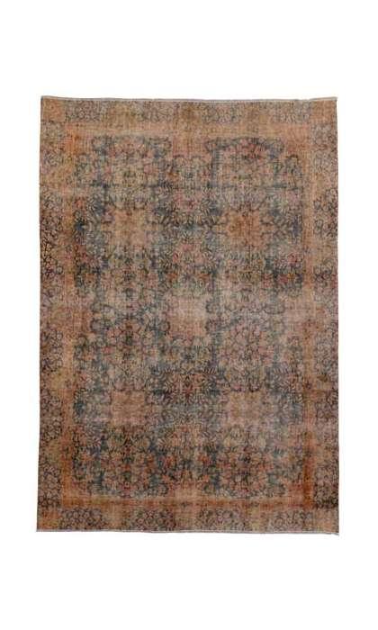 7 x 10 Vintage Kerman Rug 80304