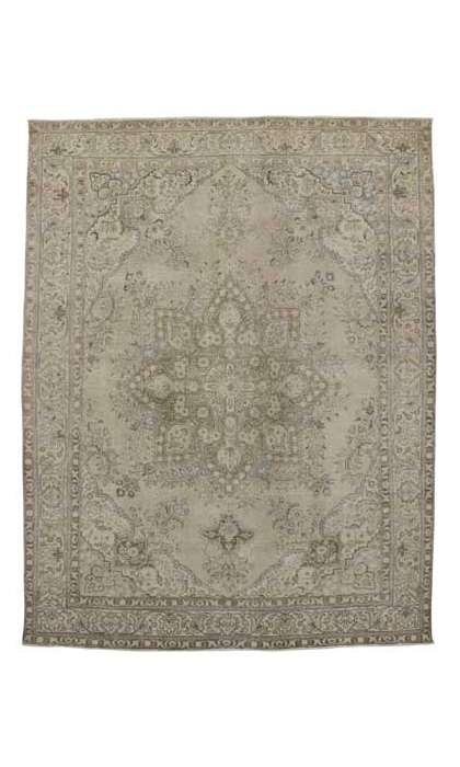 10 x 13 Vintage Tabriz Rug 80305