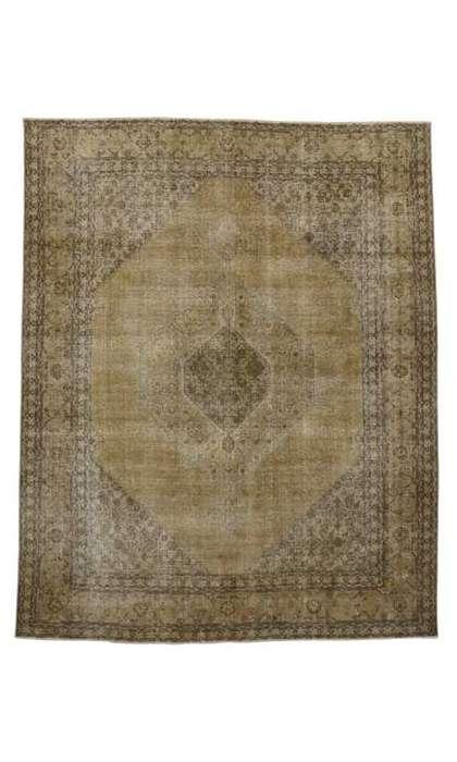 10 x 12 Vintage Tabriz Rug 80309