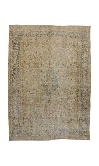 9 x 13 Vintage Kerman Rug 80312