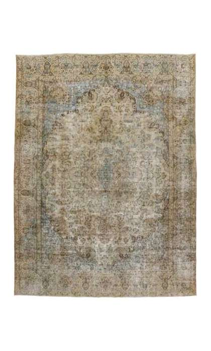 10 x 13 Vintage Kerman Rug 80314