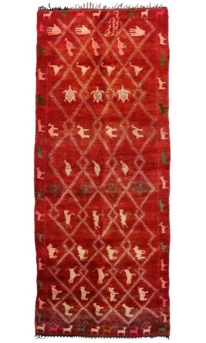 6 x 14 Vintage Moroccan Rug 20358