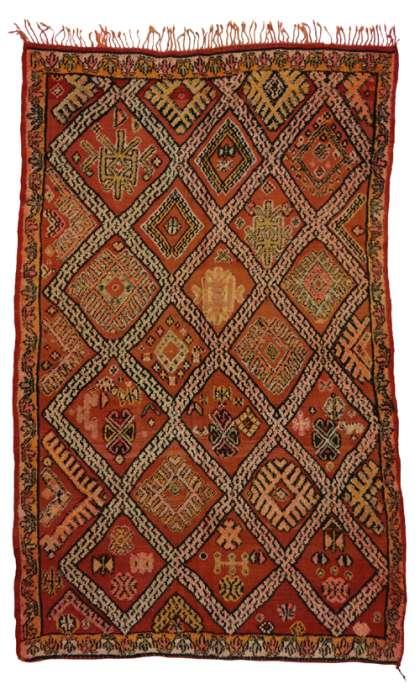 6 x 9 Vintage Moroccan Kilim Rug 20369