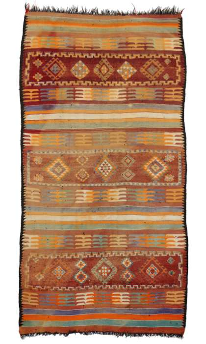 7 x 13 Vintage Moroccan Kilim Rug 20418