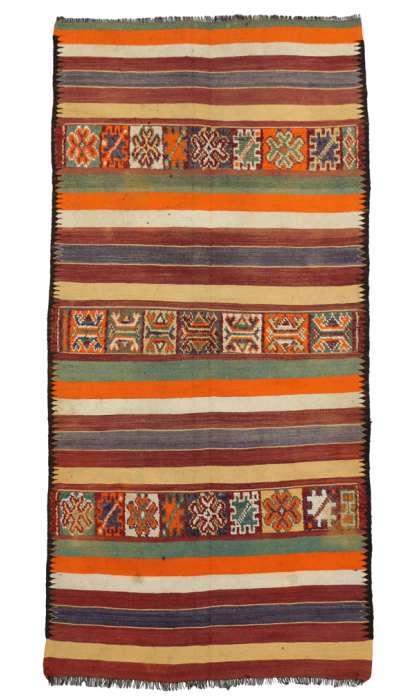 5 x 11 Vintage Moroccan Kilim Rug 20426