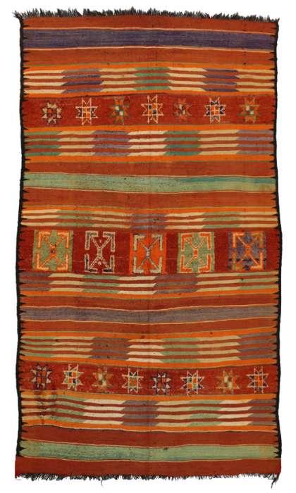 6 x 11 Vintage Moroccan Kilim Rug 20428