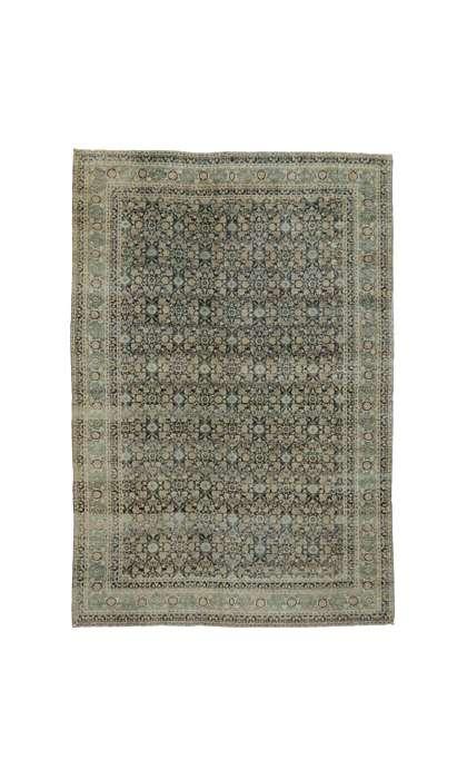 11 x 16 Antique Yazd Rug 51880