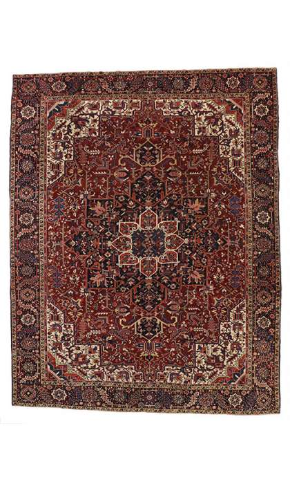 11 x 14 Antique Heriz Rug 52151