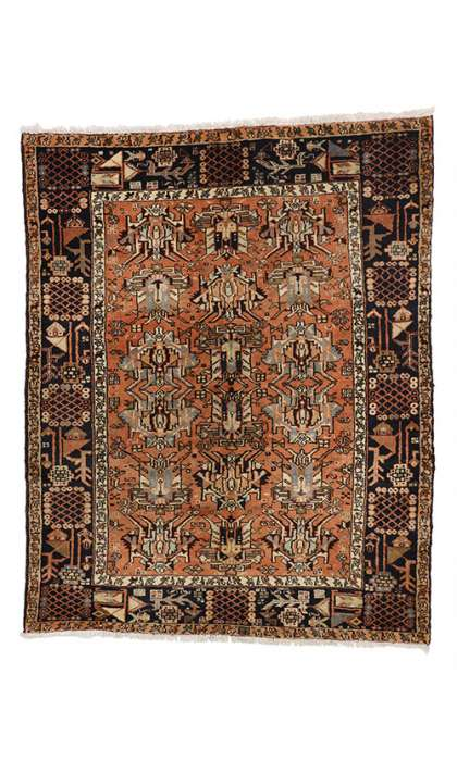 5 x 7 Antique Heriz Rug 76974