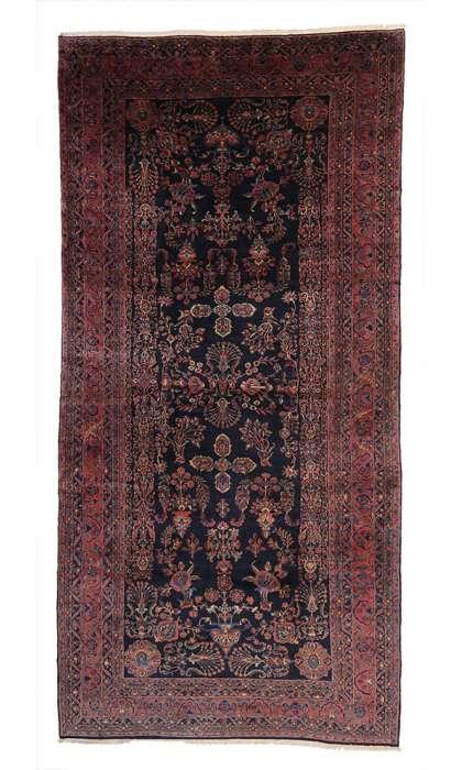 12 x 25 Antique Sarouk Rug 76984