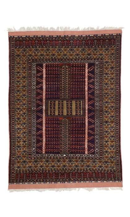 4 x 5 Vintage Afghan Rug 76995