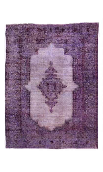 8 x 11 Vintage Overdyed Rug 80413