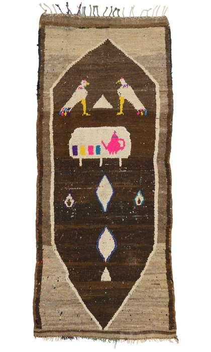 3 x 8 Vintage Moroccan Rug 20582