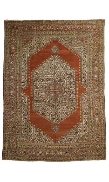 11 x 16 Antique Tabriz Rug 77050