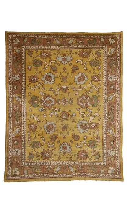 13 x 16 Antique Oushak Rug 77109