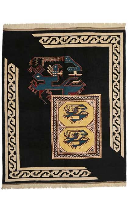 10 x 13 Vintage Oushak Rug 77133