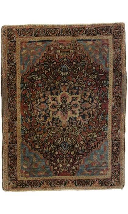 2 x 2 Antique Farahan Sarouk Rug 77163