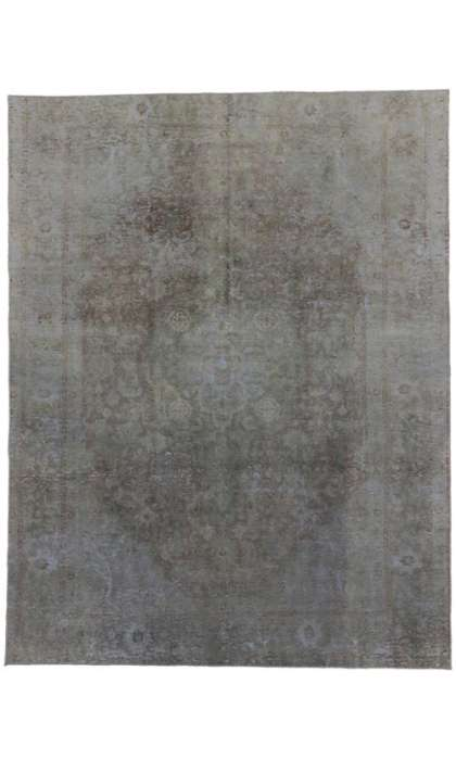8 x 11 Vintage Overdyed Rug 60604
