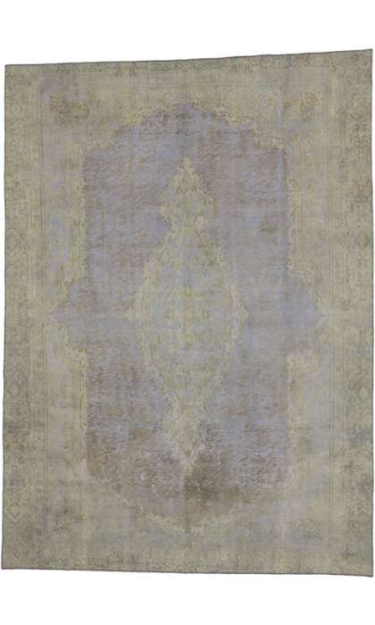 9 x 12 Vintage Overdyed Rug 60605