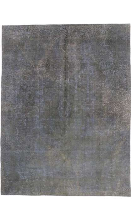 9 x 12 Vintage Overdyed Rug 60607