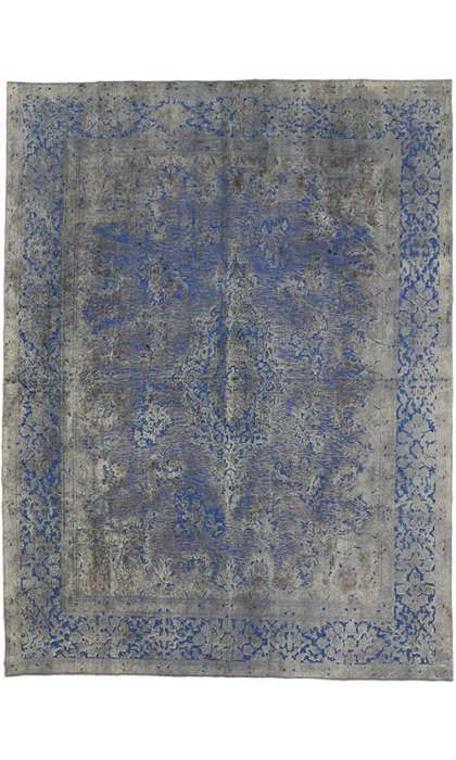 10 x 13 Vintage Overdyed Rug 60610