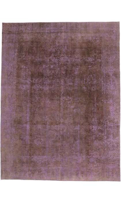 9 x 12 Vintage Overdyed Rug 60617