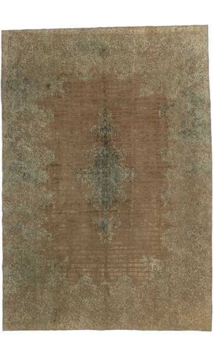 9 x 13 Vintage Overdyed Rug 60619
