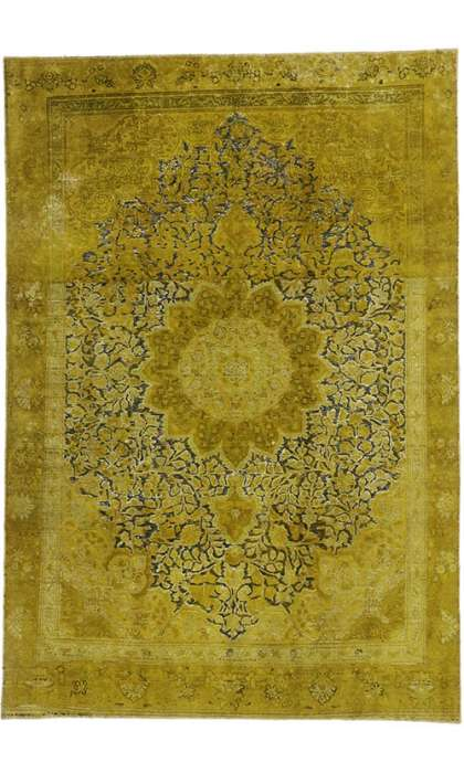 7 x 11 Vintage Overdyed Rug 60625
